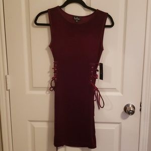 NWT Lulus XS Red Velvet Dress